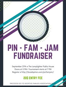 Poster advertising Pin-Fam-Jam event