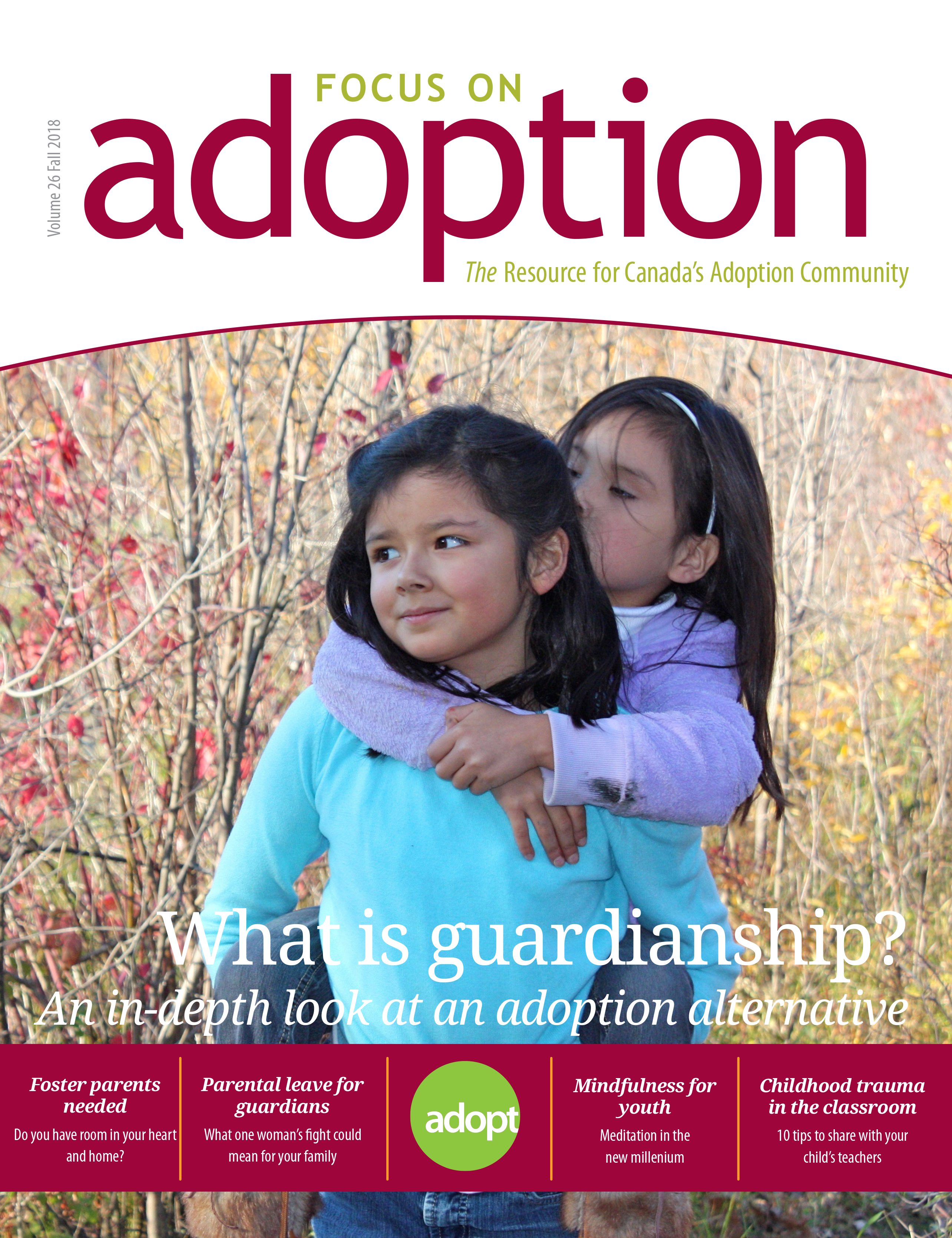 Cover of fall 2018 issue of Focus on Adoption