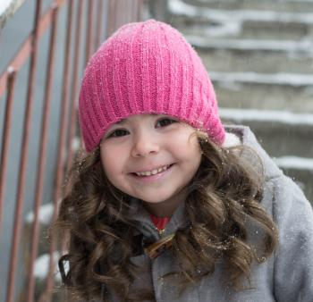 Child with toque