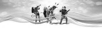 three indigenous youths