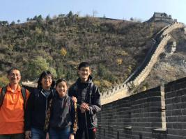 The Yuen family at the Great Wall of China