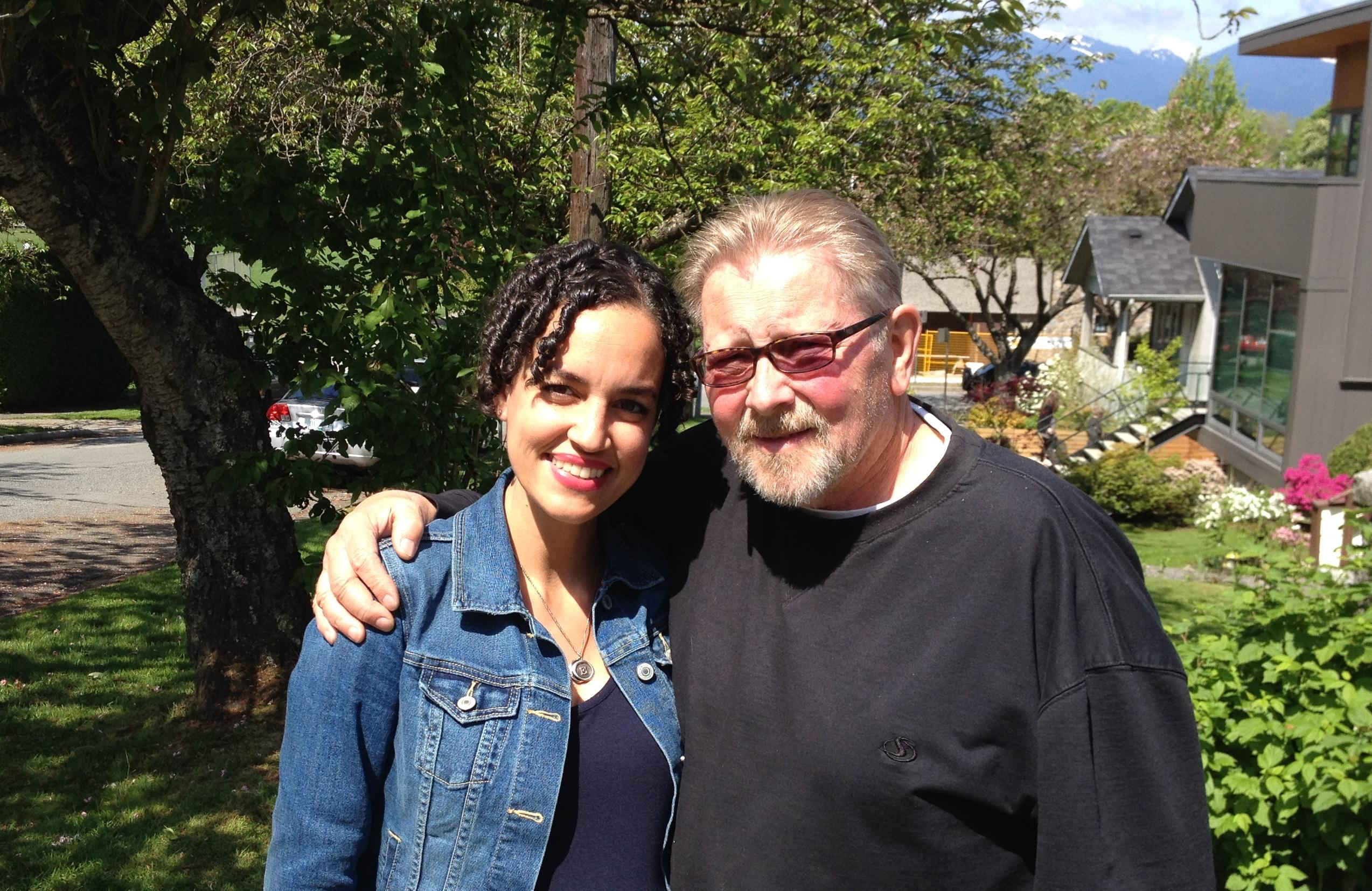 Bianca and her father.