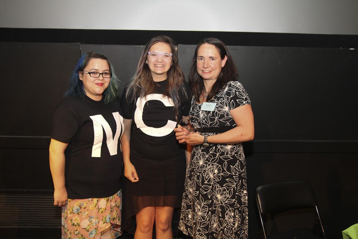 Sandra Banks accepts Adoption Champion award