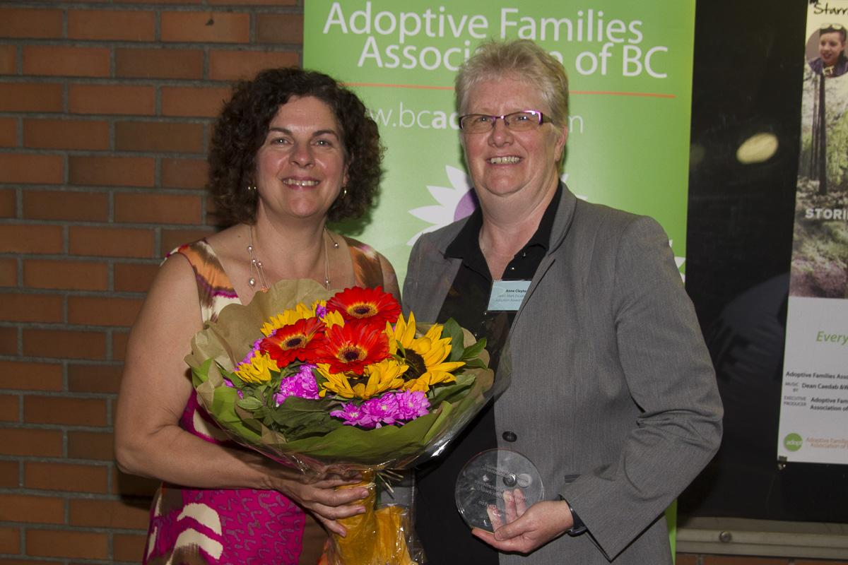 Helen Mark Excellence in Adoption Award recipient Anne Clayton