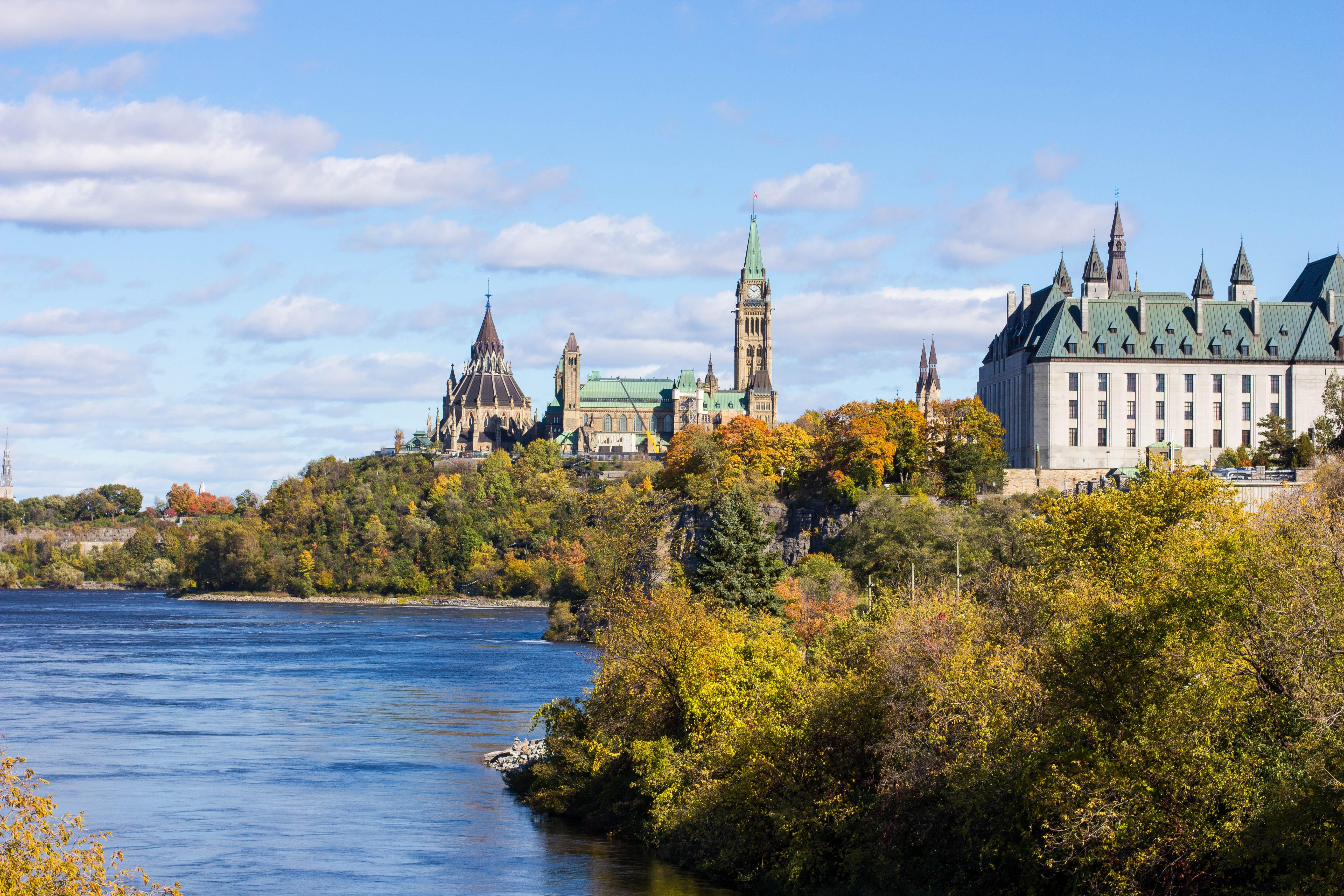 Parliament buildings in Ottawa, ON